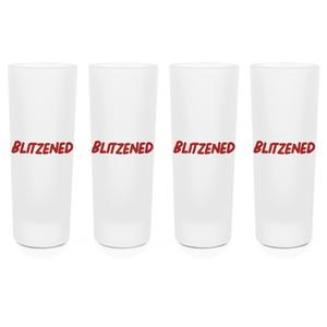 Blitzened Shot Glasses - Set of 4