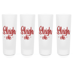 Sleigh Me Shot Glasses - Set of 4