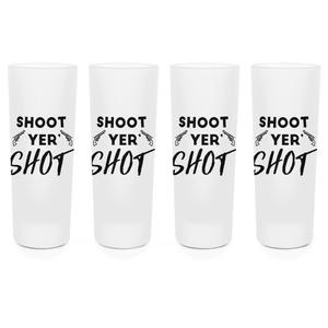 Shoot Your Shot Shot Glasses - Set of 4
