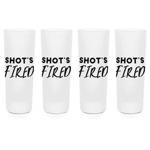 Shots Fired Shot Glasses - Set of 4