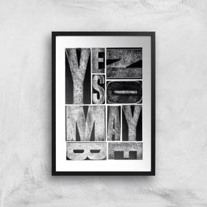 Yes, No, Maybe Giclee Art Print