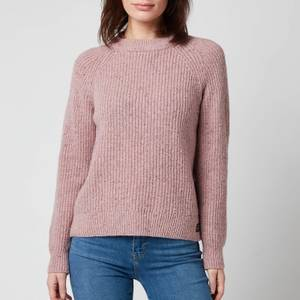 Superdry Women's Freya Tweed Crew Jumper - Candy Pink Tweed