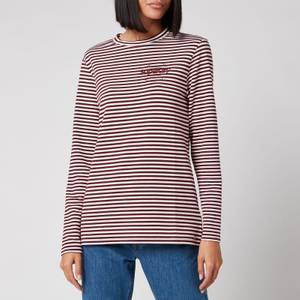 Superdry Women's Stripe Graphic NYC Top - Deep Port Stripe