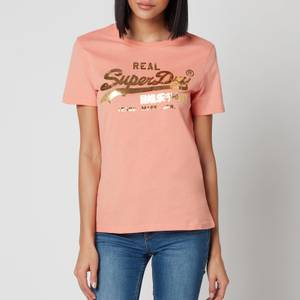 Superdry Women's Vl Luster T-Shirt - Antique Peach