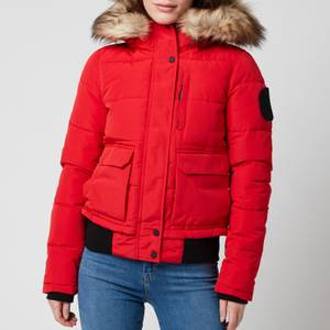 Superdry Women's Everest Bomber Jacket - High Risk Red