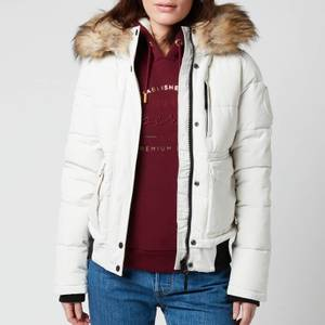 Superdry Women's Everest Bomber Jacket - Ecru