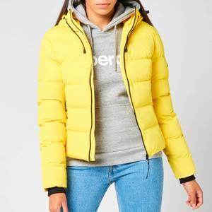 Superdry Women's Spirit Sports Puffer Jacket - Nautical Yellow