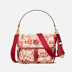 Tory Burch Women's Perry Nylon Printed Cross Body Bag - Red Destination