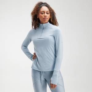 MP Women's Velocity 1/4 Zip Top- Light Blue