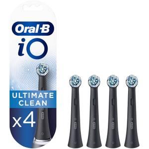 iO Ultimate Clean Opzetborstels - Zwart, Verpakking 4-Pak