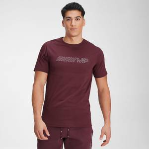MP Men's Outline Graphic Short Sleeve T-Shirt - Washed Oxblood