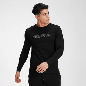 MP Men's Outline Graphic Long Sleeve Top - Black