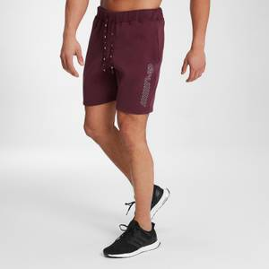 MP Men's Outline Graphic Shorts - Washed Oxblood