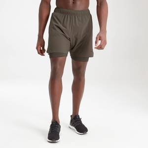 MP Men's Essentials Training 2-In-1 Shorts - Dark Olive