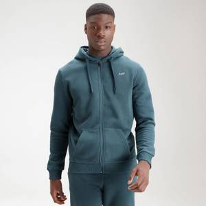 MP Men's Essentials Zip Through Hoodie - Deep Sea Blue