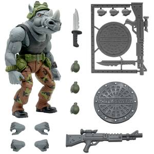 Super7 Teenage Mutant Ninja Turtles ULTIMATES! Figure - Rocksteady