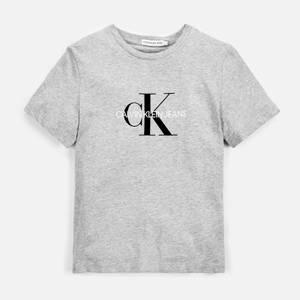 Calvin Klein Monogram Logo T-Shirt - Light Grey
