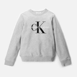 Calvin Klein Monogram Logo Sweatshirt - Light Grey