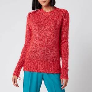 Golden Goose Deluxe Brand Women's Annamaria Melange Sweater - Tango Red