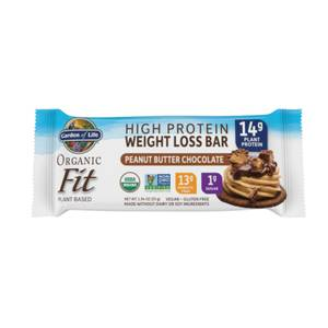 Barres Protéinées Organic Fit - Chocolat au Beurre d'Arachide - 4 Barres