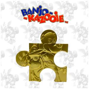 Banjo Kazooie Limited Edition 24K Gold plated Jigsaw Piece - Jiggy (Rare Store)