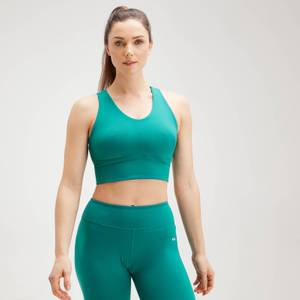 MP Women's Power Longline Sports Bra - Energy Green