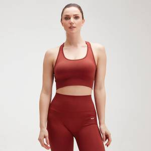 MP Shape Seamless Ultra Cross Strap Sports Bra för kvinnor – Röd
