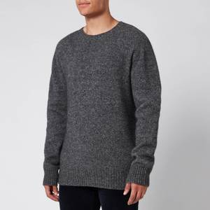 Officine Generale Men's Alpaca Wool Jumper - Grey