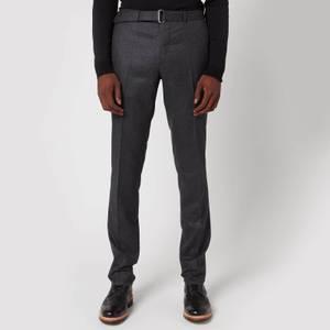 Officine Generale Men's Paul Wool Flannel Pants - Grey