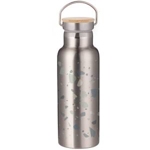 Terrazzo Portable Insulated Water Bottle - Steel