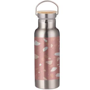 Pink Terrazzo Portable Insulated Water Bottle - Steel
