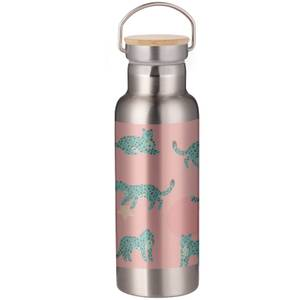 Leopard And Stars Portable Insulated Water Bottle - Steel