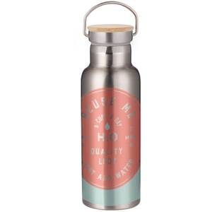 Reuse Me Just Add Water Portable Insulated Water Bottle - Steel