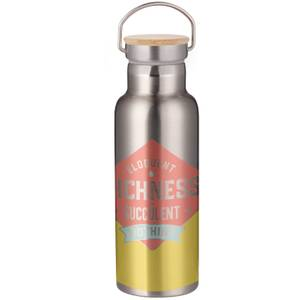 Richness Of Succulent Portable Insulated Water Bottle - Steel