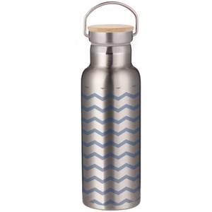 Blue Zig Zag Portable Insulated Water Bottle - Steel