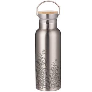 Etched Vines Portable Insulated Water Bottle - Steel