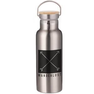 Wanderlust Portable Insulated Water Bottle - Steel