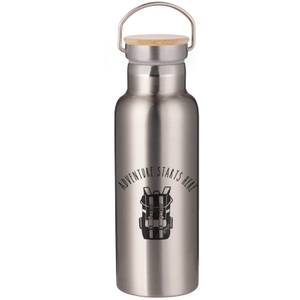 Adventure Starts Here Portable Insulated Water Bottle - Steel