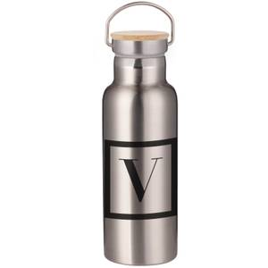 Boxed V Portable Insulated Water Bottle - Steel