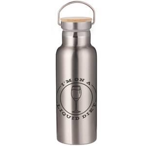 Liquid Diet Portable Insulated Water Bottle - Steel
