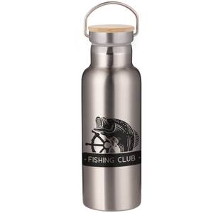 Fishing Club Portable Insulated Water Bottle - Steel