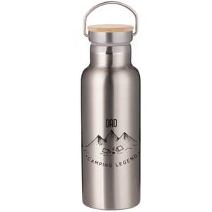 Dad Camping Legend Portable Insulated Water Bottle - Steel