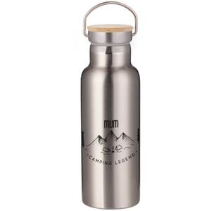 Mum Camping Legend Portable Insulated Water Bottle - Steel