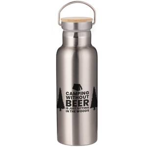 Camping Without Beer Is Just Sitting In The Woods Portable Insulated Water Bottle - Steel