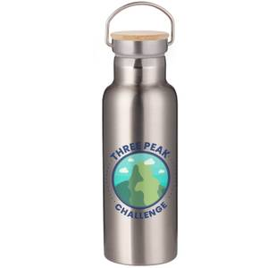 Three Peak Challenge Portable Insulated Water Bottle - Steel