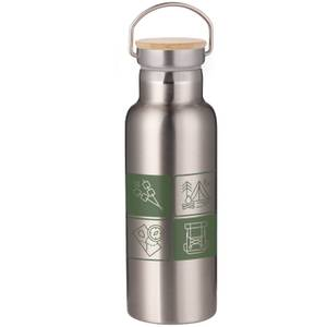 Camping Icons Portable Insulated Water Bottle - Steel