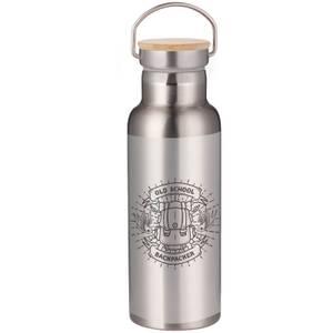 Old School Backpacker Portable Insulated Water Bottle - Steel