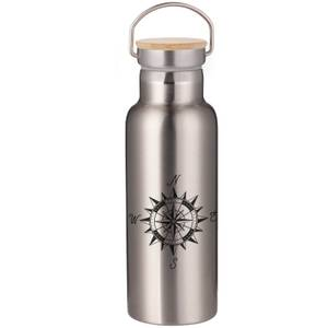 Compass Portable Insulated Water Bottle - Steel