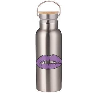 Purple Lipstick Portable Insulated Water Bottle - Steel