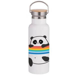 Panda Portable Insulated Water Bottle - White
